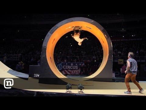 "Skateboarder Bob Burnquist Tackles The Nitro Circus ""Dreaded Loop"" Episode #2"