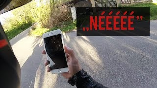 Uletěl mi iPhone, bouračka, děsivý sklep MOTOVLOG #25