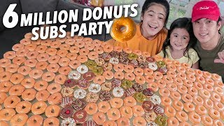 Baixar 6 MILLION SUBSCRIBERS DONUT PARTY! | Ranz and Niana