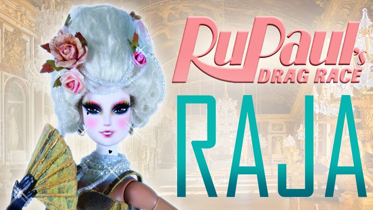 Custom Raja Doll and Marie Antoinette Wig  [ RUPAUL'S DRAG RACE ]