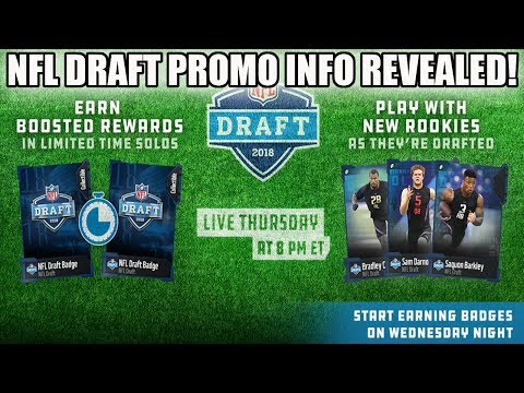 NFL DRAFT PROMO INFO RELEASED! LIMITED TIME SOLOS! HOW TO PREPARE! | MADDEN 18
