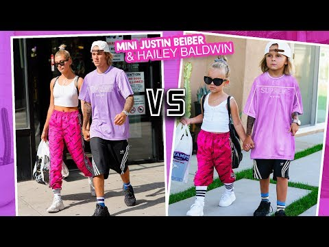 MEETING MINI JUSTIN BIEBER + HAILEY BALDWIN recreating EXCLUSIVE never before seen  Slyfox Family