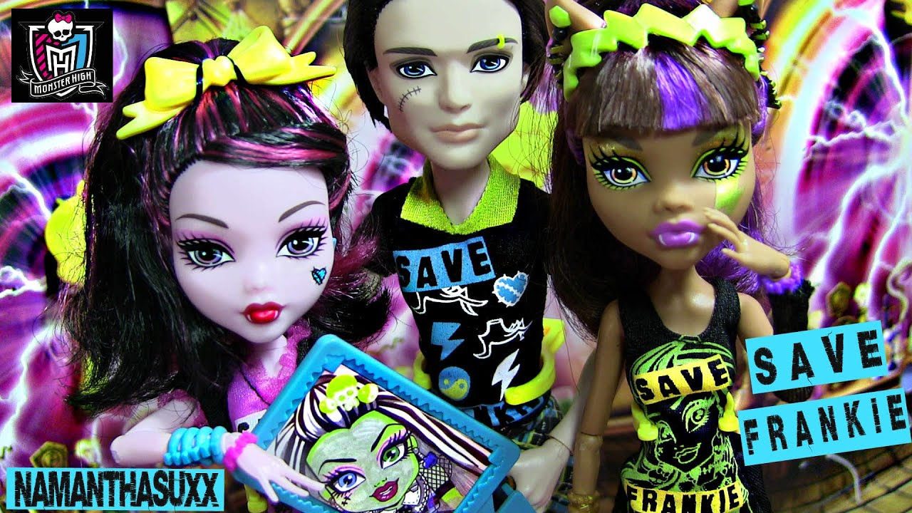 Monster high save frankie jackson jekyl clawdeen wolf - Monster high youtube ...
