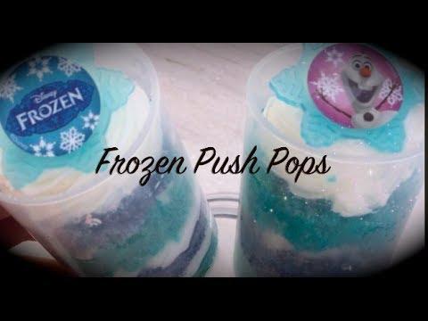 Frozen Themed Cake Push Pops