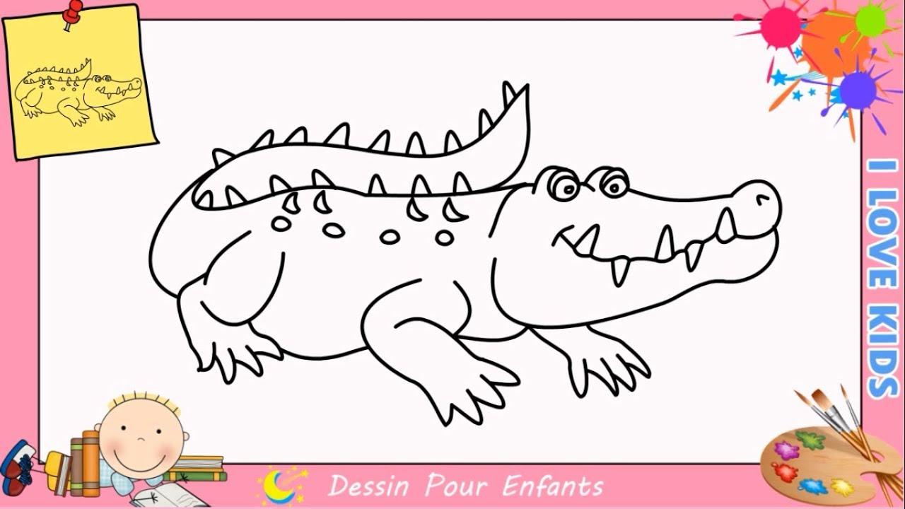 Comment Dessiner Un Crocodile Facilement Mettre A Jour Pour Enfants 1 Youtube