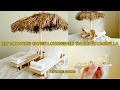 DIY Miniature Chaise Lounges and Thatched Umbrella