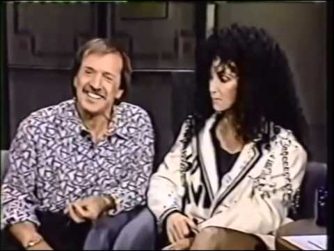 Cher With Sonny On The David Letterman Show   1987