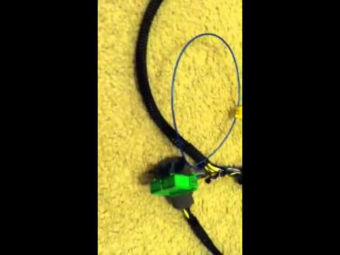 B18 tucked wire harness - YouTube