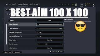 Rainbow Six Siege Best Sensitivity 100x100  En İyi Aim Ayarı Dikey Yatay 100x100
