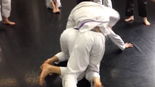 Side control escape transition to back control