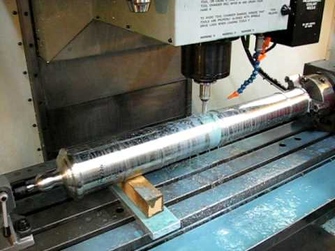 Custom Made Real Cannon Cutting The Trunnions Cnc Lathe