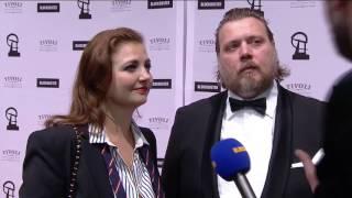Laura og Nicolas Bro på den røde løber - Robert Prisen 2017
