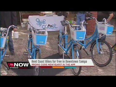 Rental Coast Bikes for free in Downtown Tampa