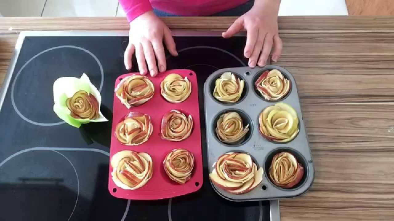 rezept bl tterteig apfel rosen apple roses cupcakes g l tatlisi youtube. Black Bedroom Furniture Sets. Home Design Ideas