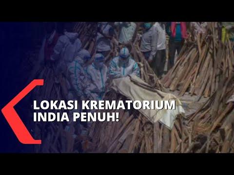 Lonjakan Pasien Covid-19 Tak Tertolong, Krematorium di India Kewalahan