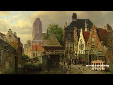 Gallery Paintings with Classical Music- View of Oudewater HD