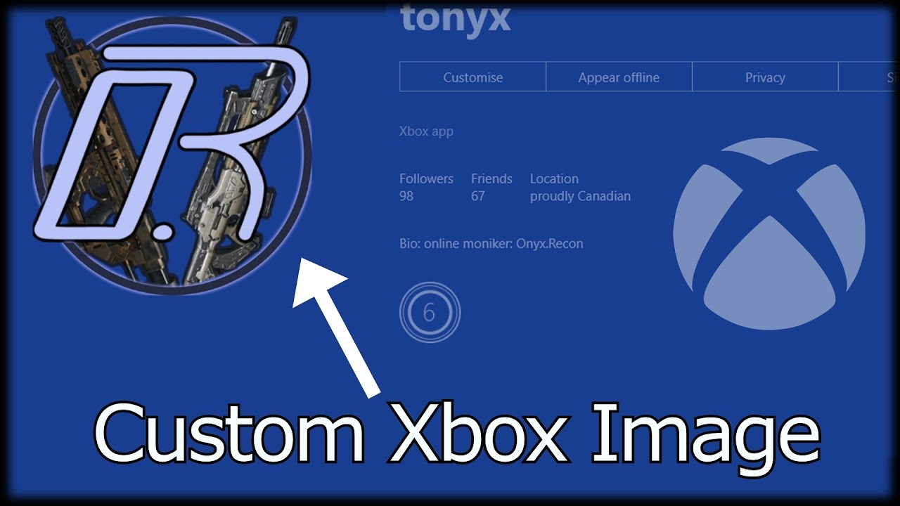 how to add custom picture to xbox one