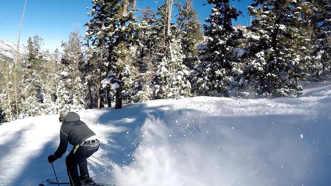 snow skiing in las vegas - lee canyon resort - youtube