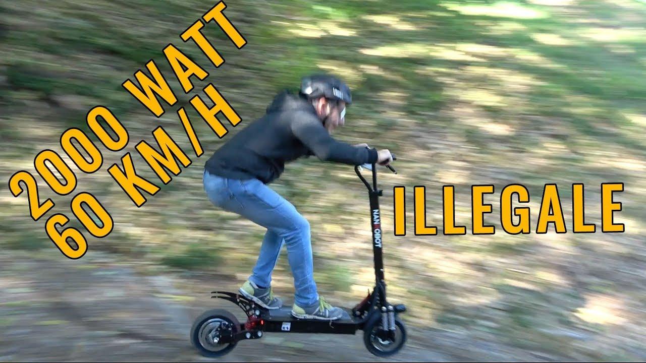 60 Km H 2000 Watt E Trazione Integrale Recensione Monopattino Illegale Youtube
