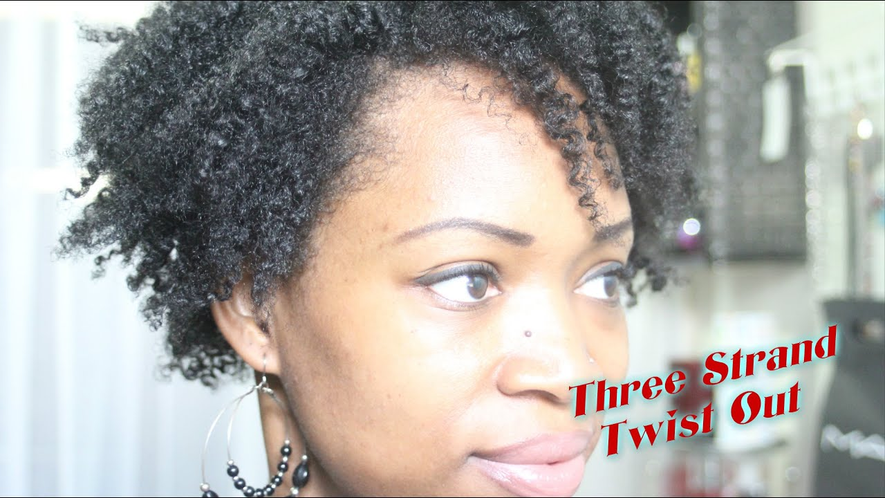 Three Strand Twist Out On My Natural Hair (4b / 4c