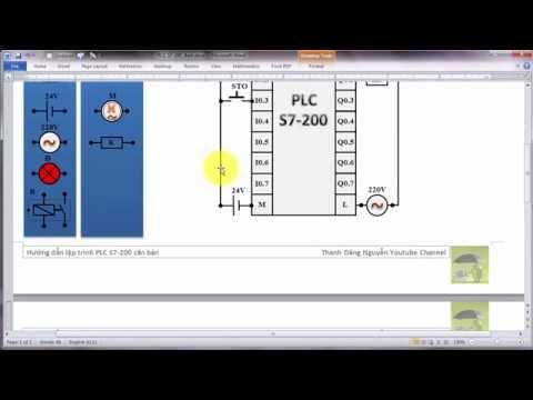 PLC S7-200 - Bit Logic: Khởi động động cơ theo trình tự