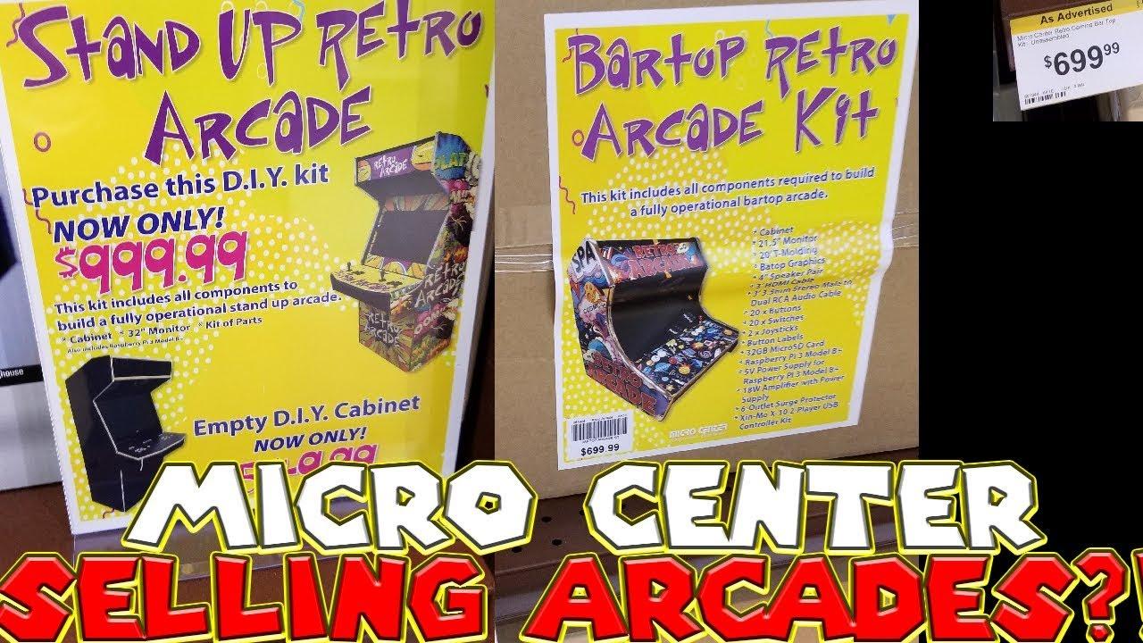 Micro Center Selling Diy Arcades