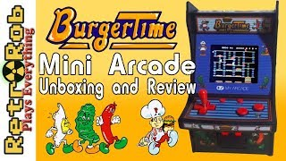 My Arcade Mini Arcade Burger Time Unboxing, Gameplay and Review