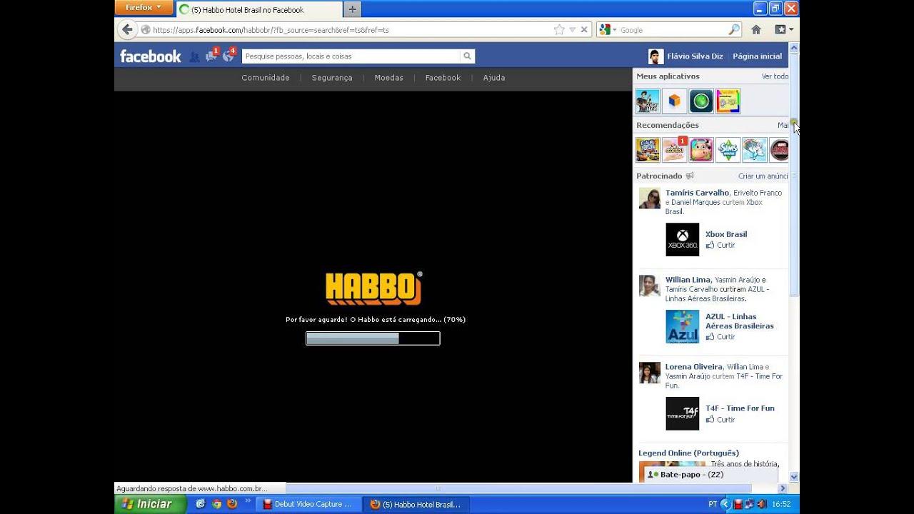 Como entrar no habbo hotel pelo facebook youtube for Habbo entrar