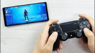 SONY XPERIA 1 UNBOXING + PAIRING  DUAL SHOCK 4 & FORTNITE GAMEPLAY