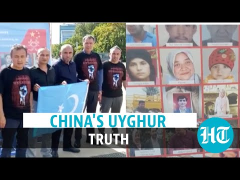 Protest against China slave camps, 'genocide' of Uyghurs, outside UN office