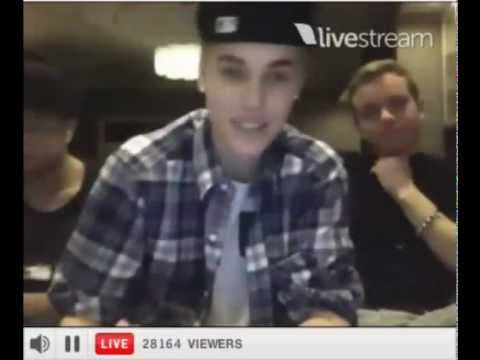 Justin Bieber Twitcam OCTOBER 2012 - FULL