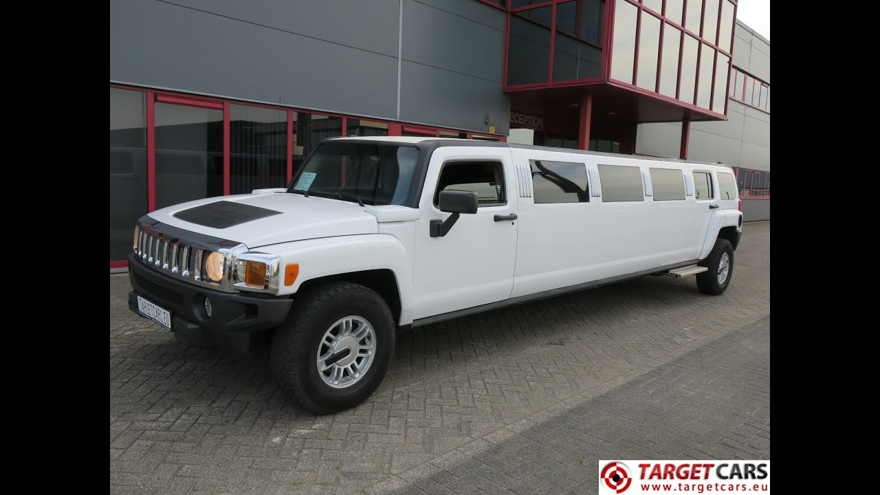 HUMMER H3 LIMOUSINE 140INCH STRETCH 810CM 03 06 WHITE