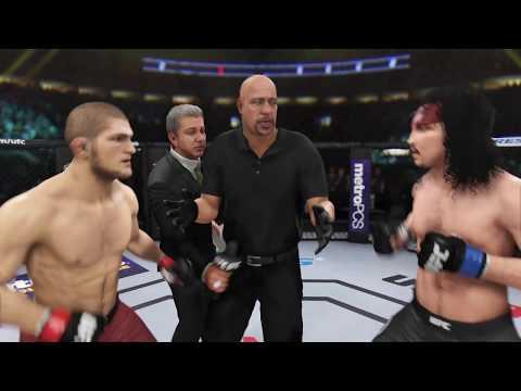 Khabib Nurmagamedov vs. Jack Sparrov (EA sports UFC 3) - CPU vs. CPU