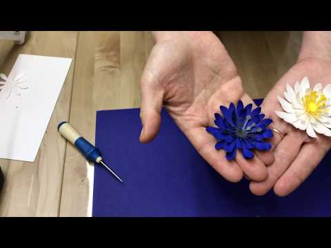 How to make a daisy paper flower using SIZZIX BigShot Machine and BIGZ die