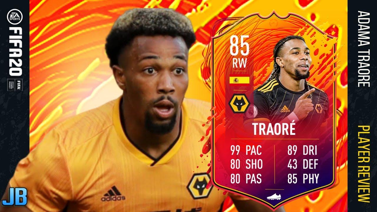 Fifa 20 Headliner Adama Traore 85 Adama Traore Player Review Fifa 20 Ultimate Team Youtube