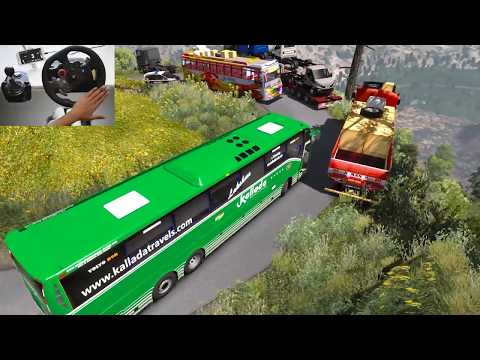 Aggressive Volvo Bus Driver Shows His Power To Crazy Lady Truck Driver | Euro Truck Simulator 2 ETS2