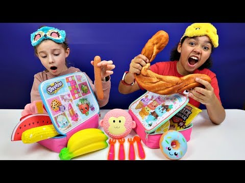 The LUNCHBOX SWITCH UP CHALLENGE! Squishy Toys