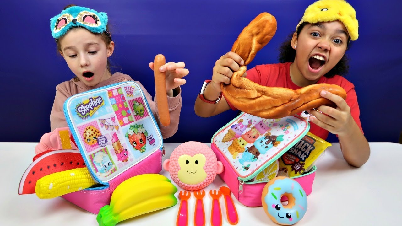 The LUNCHBOX SWITCH UP CHALLENGE! Squishy Toys - YouTube