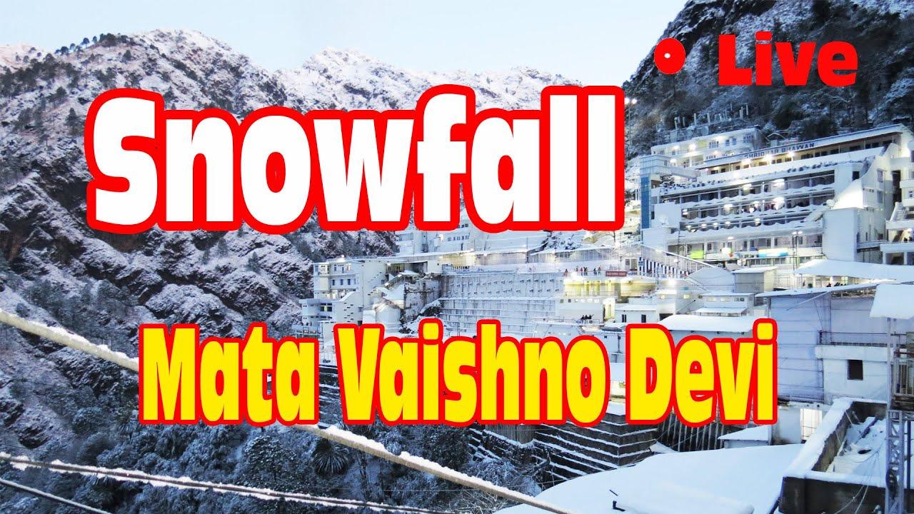 #Snowfall Mata Vaishno Devi Live Today Snowfall Live Heavy Snowfall Mata Vaishno Devi Bhawan