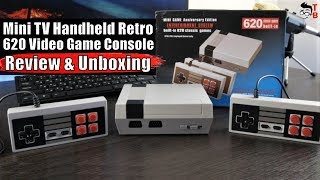 Mini TV Handheld Retro 620 Video Games Console REVIEW & Unboxing