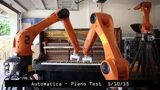 Automatica: Robot Piano Tests