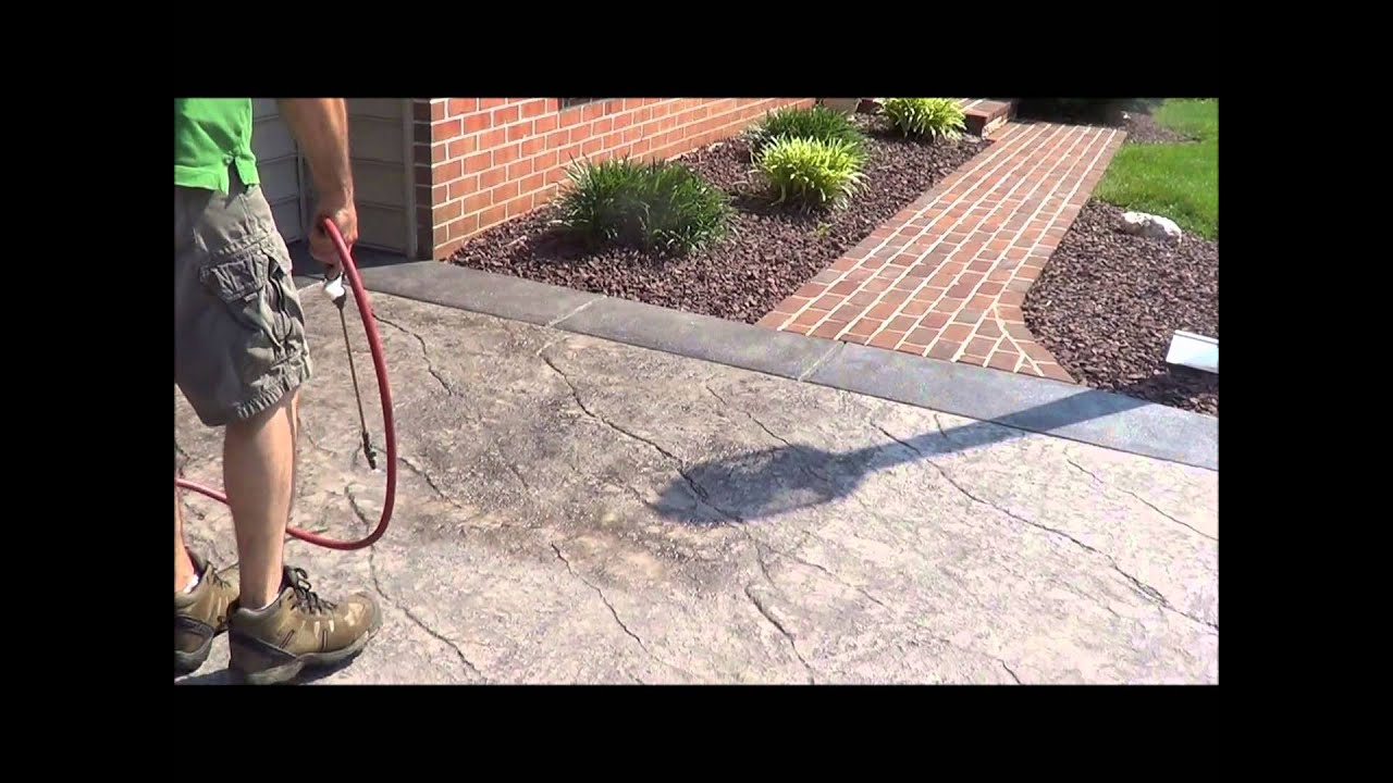 Stamped Concrete Sealer You