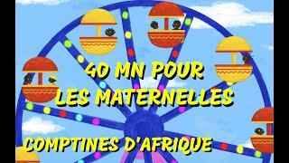 Comptines Africaines de maternelles - 40min de Chansons d'Afrique pour les petits (avec paroles)
