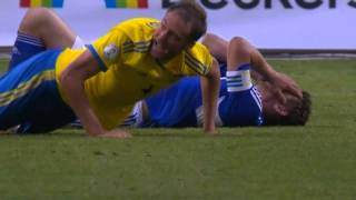 Gambar cover Sverige - Färöarna Zlatan Ibrahimovic 2-0 samt Andreas Granqvist Rött kort