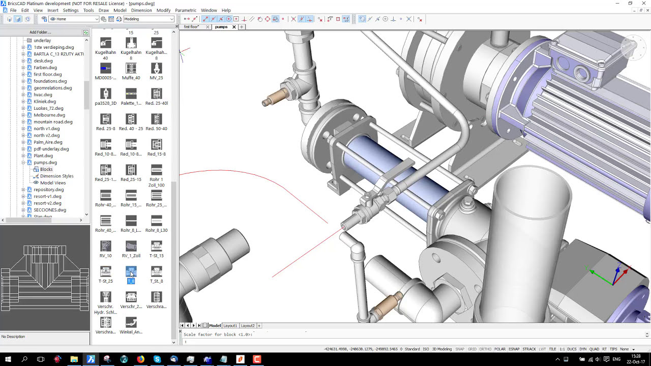 Content Browser in BricsCAD V18