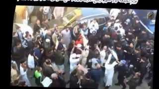 لحظة اعتقال الشيخ علي بن حاج و الاعتداء عليه من طرف قوات البياري BIR امام المسجد الوفاء بالعهد