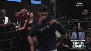 Fast hands! Amir Khan full media workout in New York | Crawford v Khan