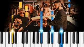 Bad Bunny Feat. Drake MIA - Easy Piano Tutorial Como tocar Mia.mp3