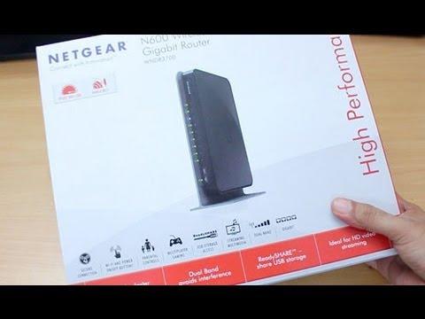 Unboxing of Netgear 3700 (N600) WiFi router