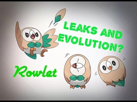 OWL POKEMON, Rowlet Starter Leaked + Evolution Speculation ...